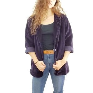 Levi's // Purple Corduroy Plus Size Blazer Jacket